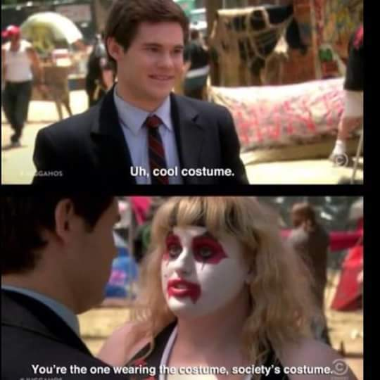 Society's costume - meme