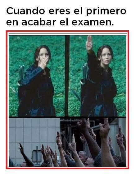 Malditos exámenes - meme