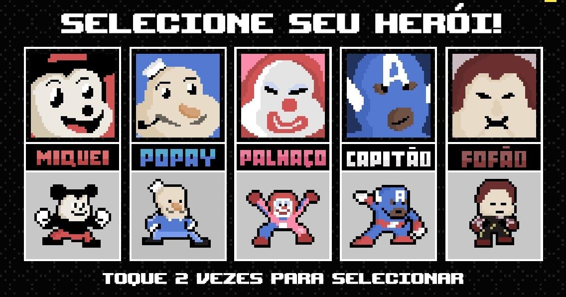 Os heróis - meme