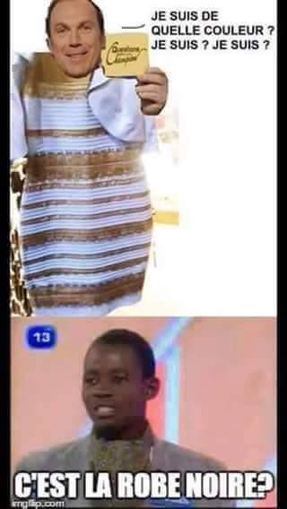 C'est.. La robe noire ! - meme