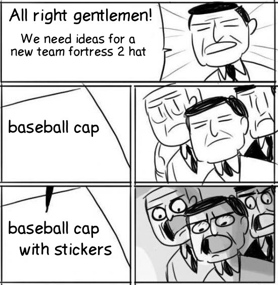 3rd comment gets a baseball cap, but 7th gets one WITH STICKERS *sarcastic gasp* - meme