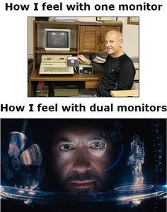 Dual Monitors - meme