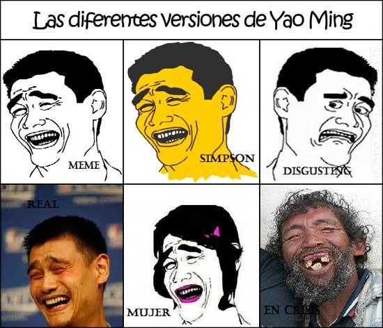 Yao también tiene sus versiones - meme