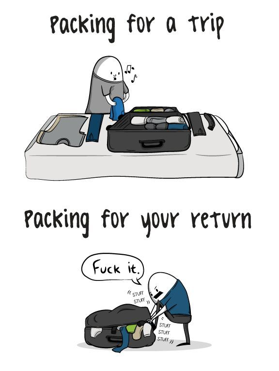 why can't I close my bags - meme