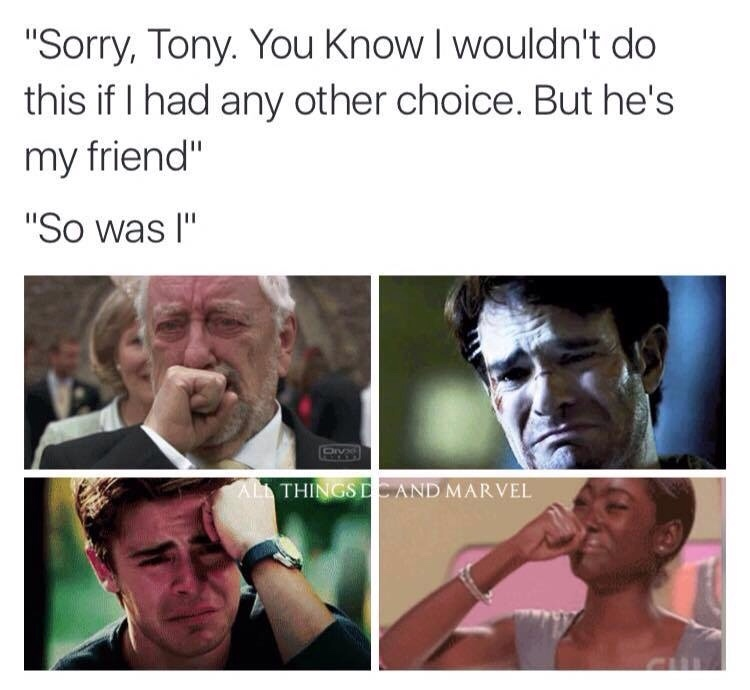 Captain America civil war trailer had me like this - meme