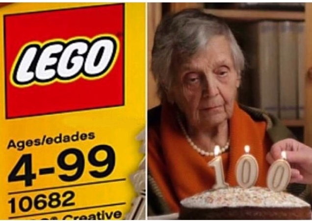 The moment you turn 100 and realize you can't play with Lego anymore - meme