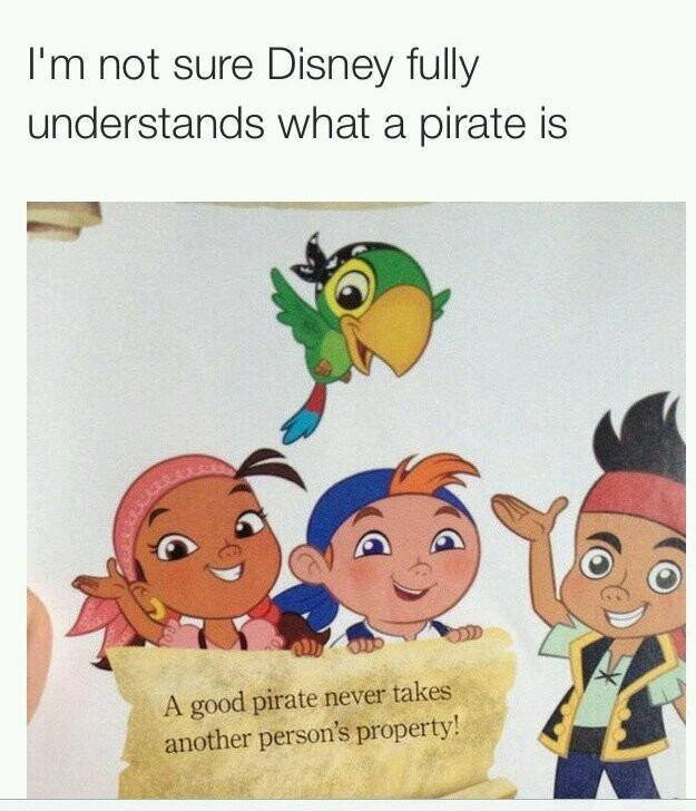 Romanticized pirates - meme