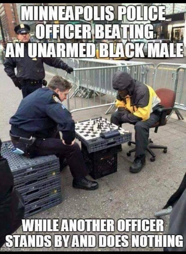 beating a black man - meme