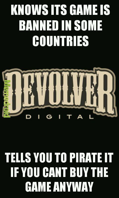 Good guy devolver - meme