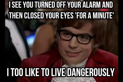 living in danger - meme