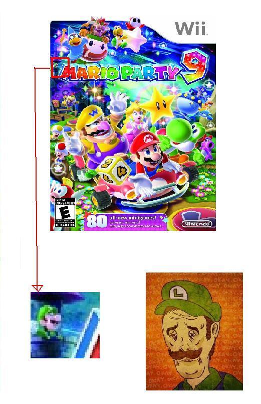 Pobre Mario verde :c - meme