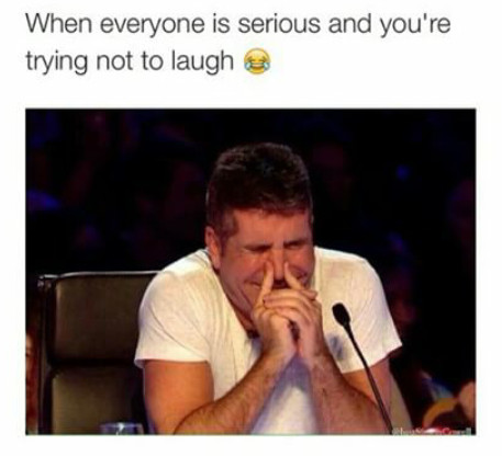 Trying not to laugh.... - meme