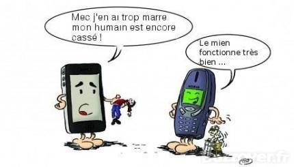 Dans le monde des portables - meme
