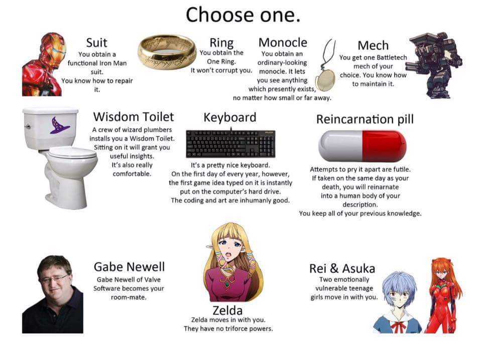 Which on would you choose? - meme