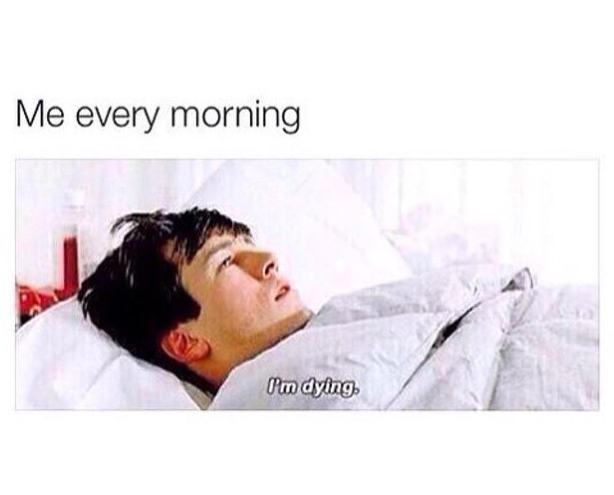 mornings - meme