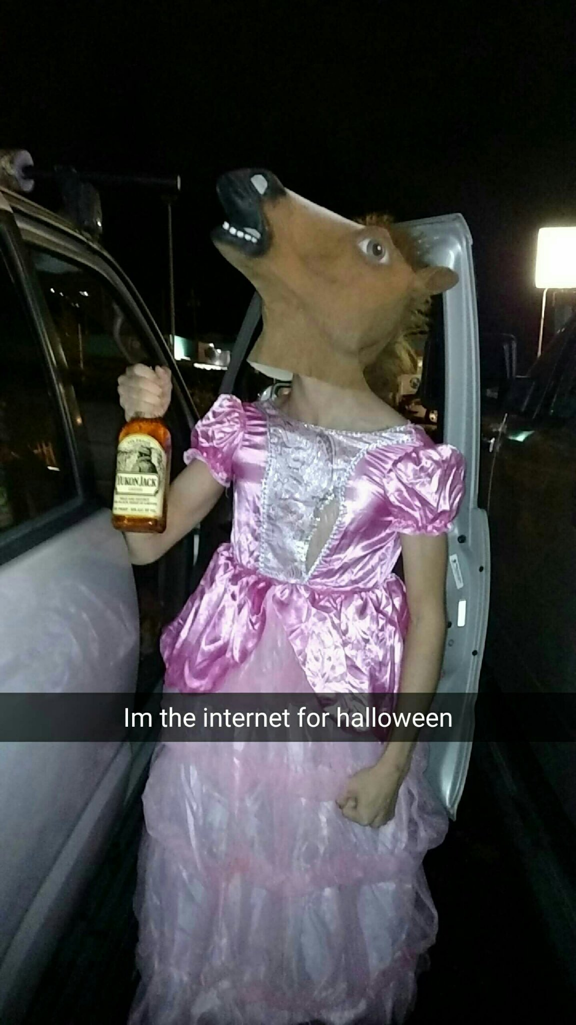When your costume doesn't come in on time. - meme