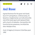Axl to a T