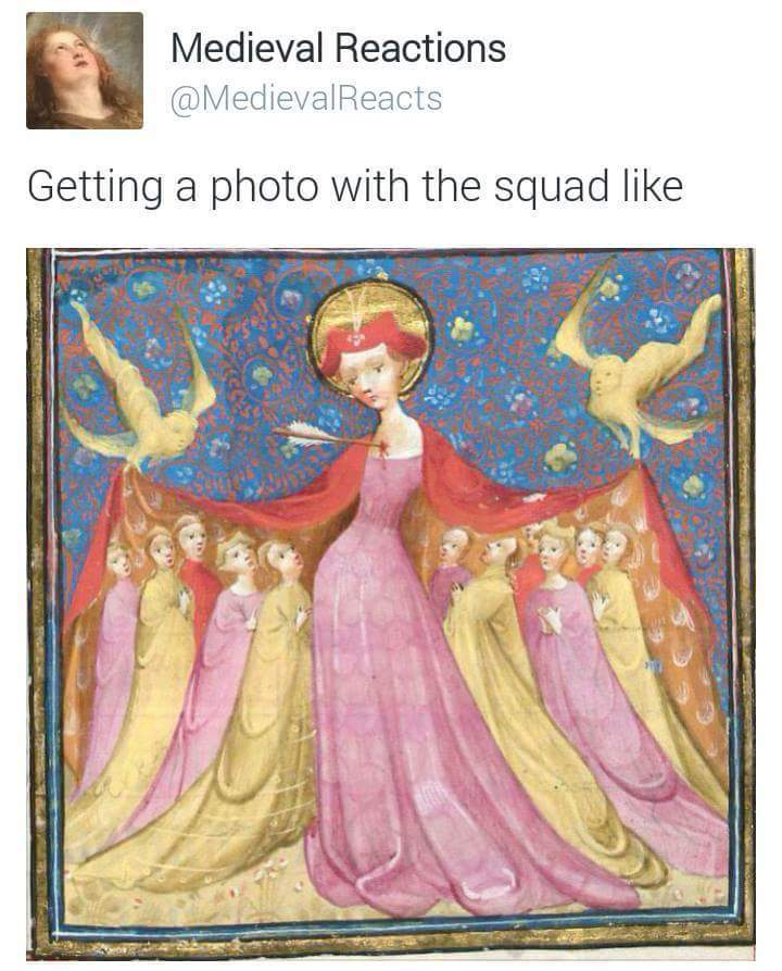 When the whole squad is on point - meme