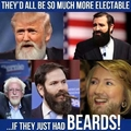 Hillary Clinton with a beard........no thanks