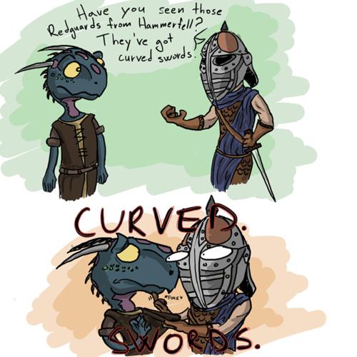 Curved swords - meme