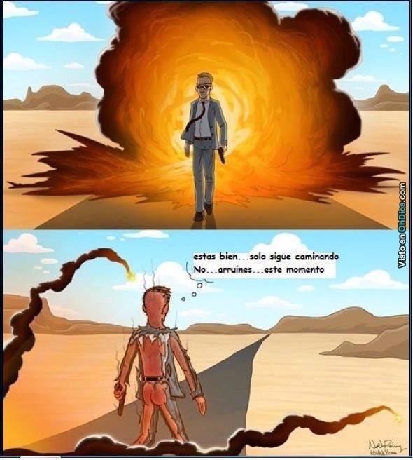 La realidad de las explosiones - meme