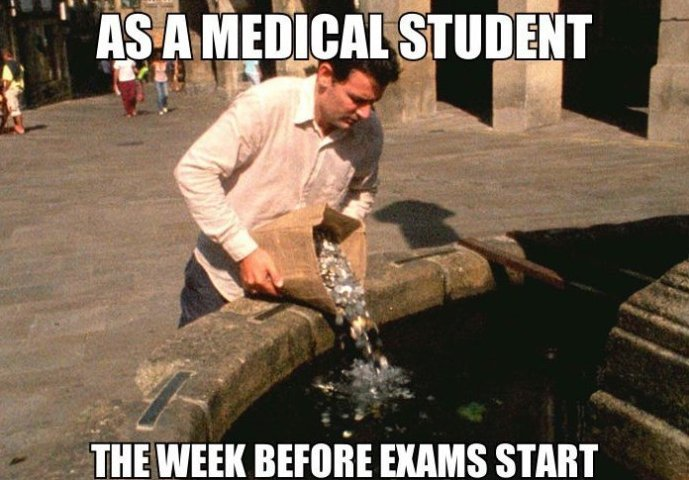 I'm totally a medical student. - meme