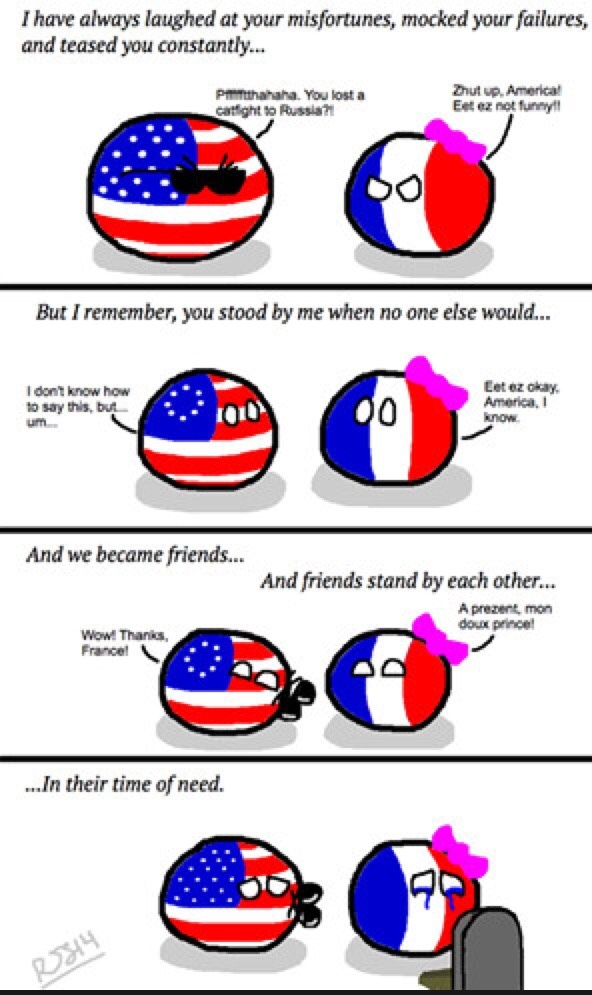 We stand with Paris - meme