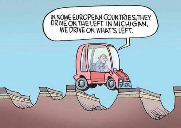 Michigan roads - meme