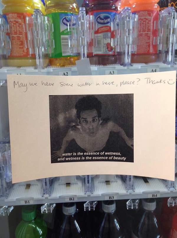 My Officemate's Note to the Vending Machine Guy - meme