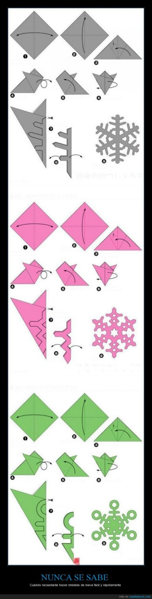 Como hacer copos de nieve - meme