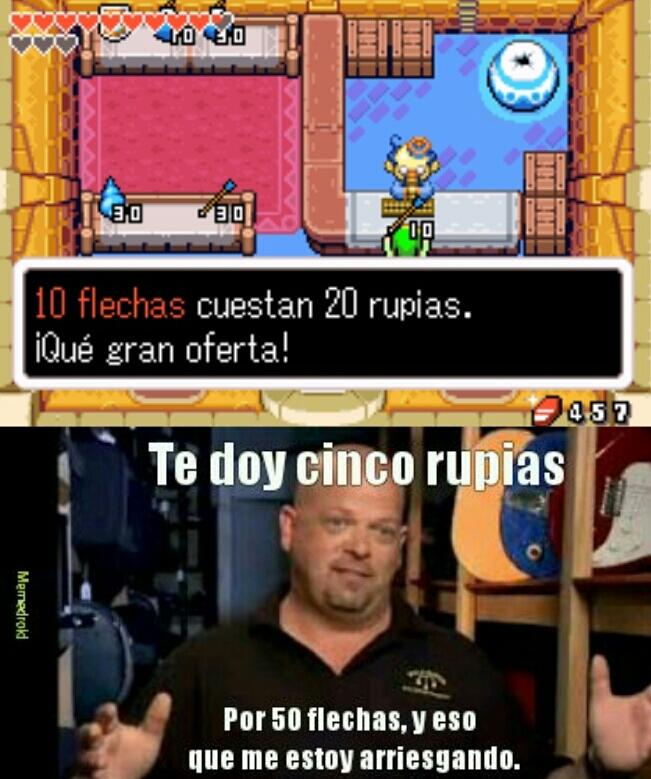 Rick en The Legend Of Zelda - meme