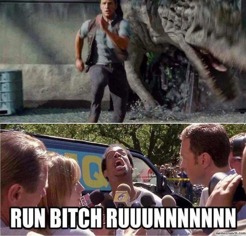 Run bitch - meme