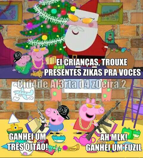 Natal da peppa - meme