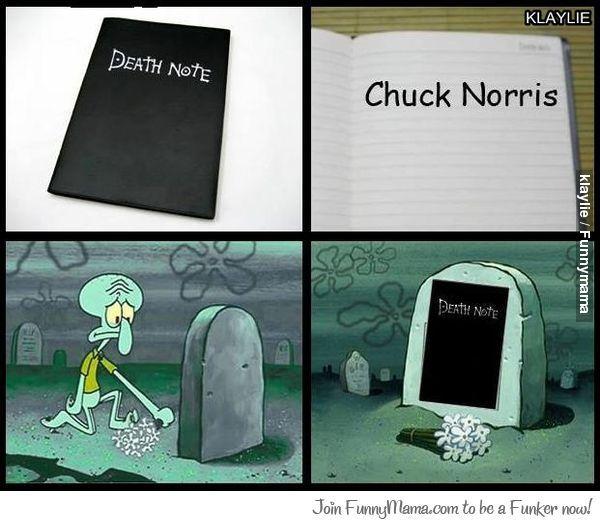 Chuck Norris vs Death note chi vincerà - meme