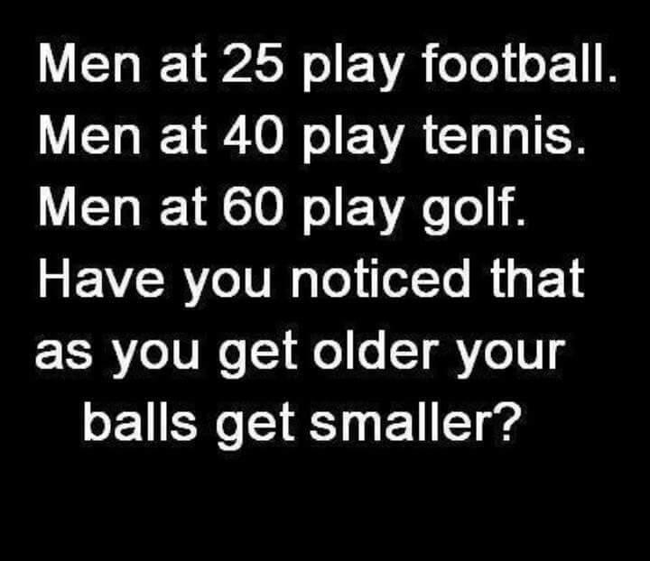 Balls get smaller... - meme