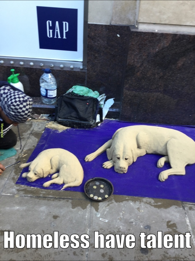 sandogs by a homeless dude - meme