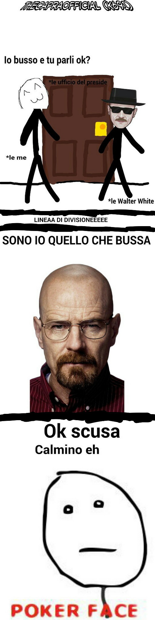 """Eh sono invecchiato LOL ICSDI - la traduzione della frase """"i am the one who knocks"""" viene malissima #fregacazzi - meme"""