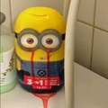 my mom bought my little brother a strawberry minion shampoo