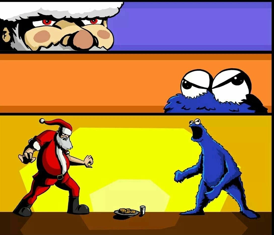 La batalla mas epica esta navidad - meme