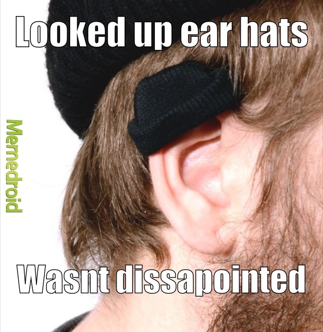 I was trying to find a Russian ear hat - meme