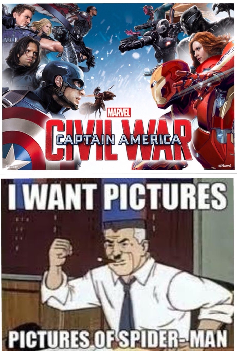 after I saw the new civil war promo art I'm just like - meme