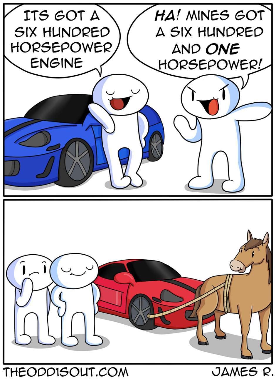 horsepower is all that we need - meme
