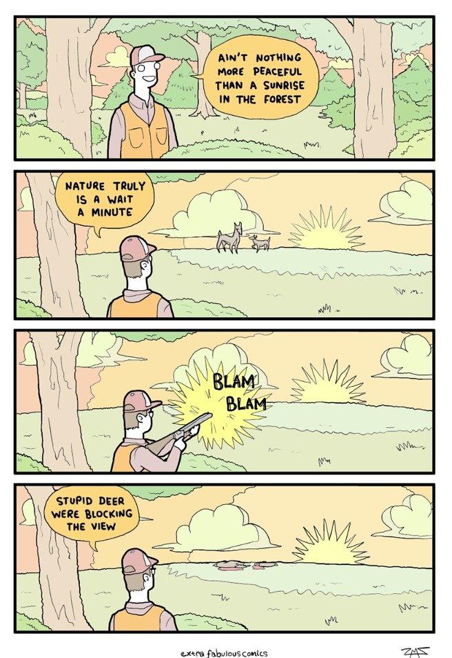 Stupid deer - meme