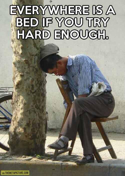 Just try hard. - meme