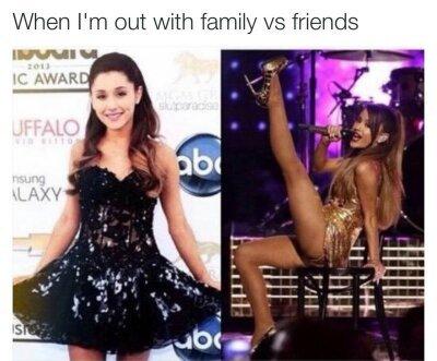 Family v Friends - meme