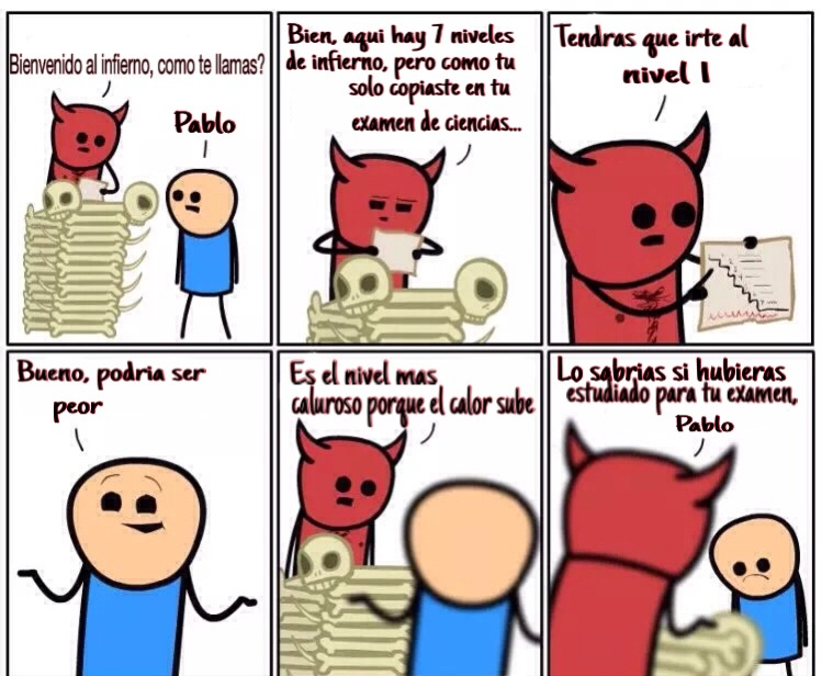 Pablito, copión - meme