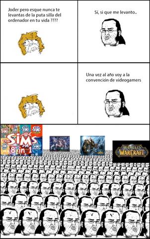 Reunion friki - meme
