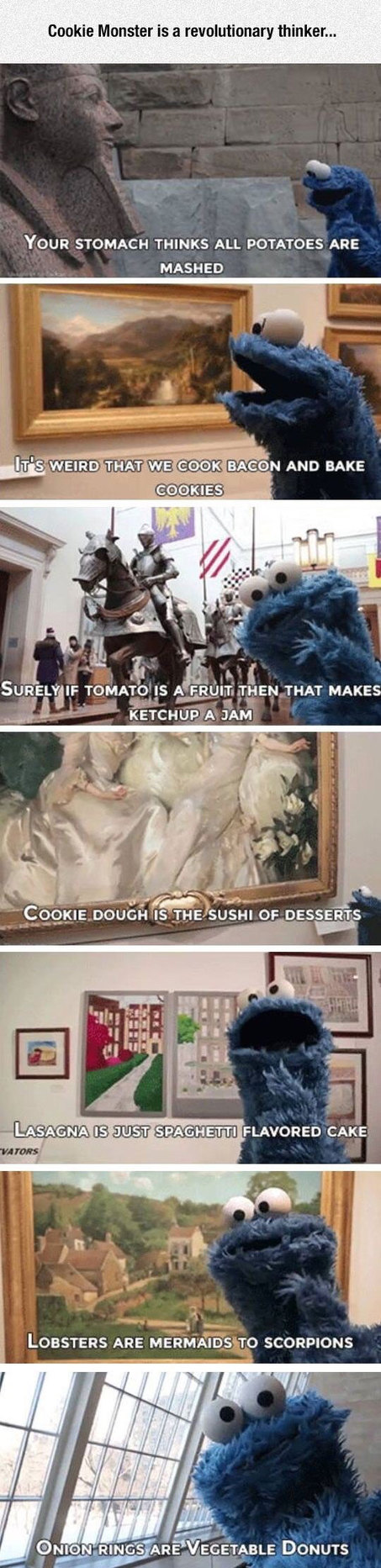 Cookie Monster is going to change the world - meme