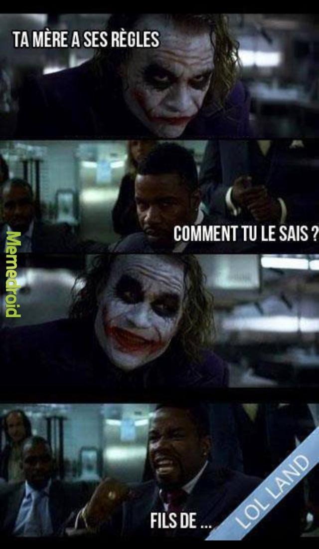 sacré joker  - meme