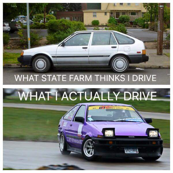 All hail the AE86 Sprinter/Corolla Trueno. All hail Toyota. - meme